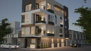 تصميم مبنى تجاري في منطقة الاعظمية