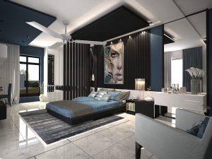 تصميم غرفة نوم شبابية في منطقة الوزيرية