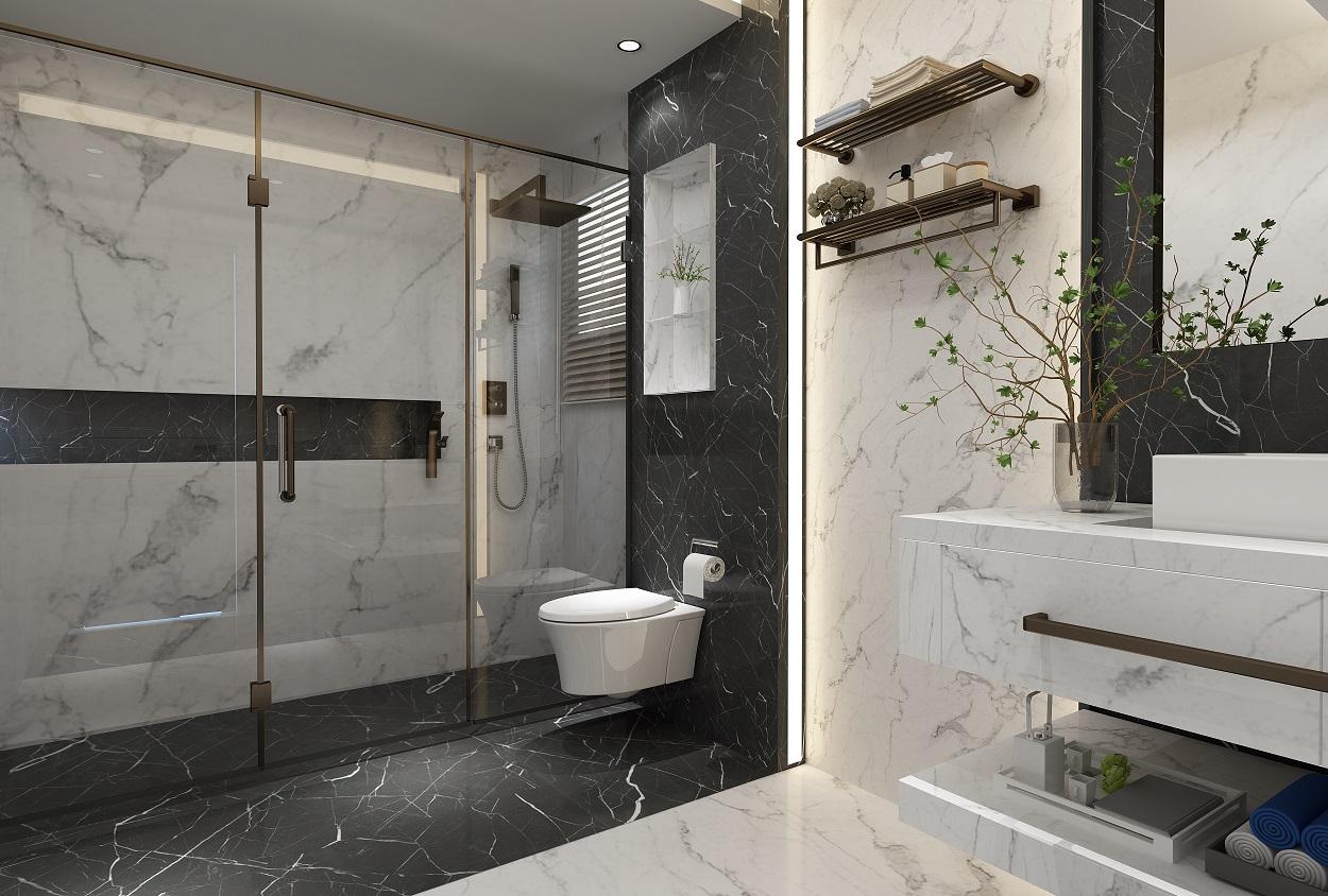 تصميم حمام مودرن  في اليرموك