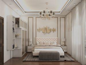 تصميم غرفة نوم مزدوجة نيو كلاسك  في منطقة العرصات