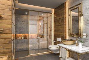 تصميم حمام مودرن  في المنصور