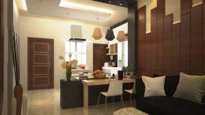 تصميم وتنفيذ غرفة معيشة منزل في شارع المغرب