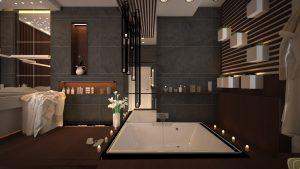 تصميم حمام مودرن  في الوزيرية