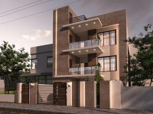تصميم وتنفيذ  منزل في منطقة المنصور حي العربي