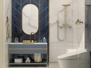 تصميم وتنفيذ  حمام لمنزل في منطقة الكرادة