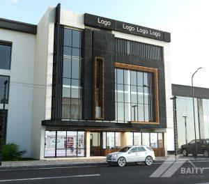 تصميم وتنفيذ بناية مجمع طبي في شارع فلسطين -ساحة بيروت